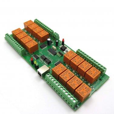 USB 16 Channel Relay Board - Virtual COM (Serial) Port , 24V