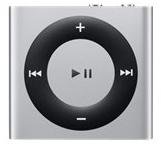 Apple iPod Shuffle 2 GB Silver 4th Generation Latest Model