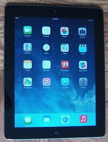 Apple iPad 2 16GB Wi-Fi + 3G Cellular AT&T A1396 Black Tablet MD65LL/A