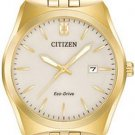 Citizen Eco-Drive Corso Gold Tone Men's Wrist Watch Model #BM7332-53P