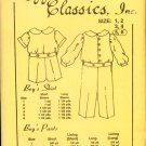 Vintage Maggie's Classics Button on Suit Boy's Pattern Size 5,6