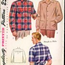 Vintage 1943 Simplicity #1961 Man's Shirt Size Small