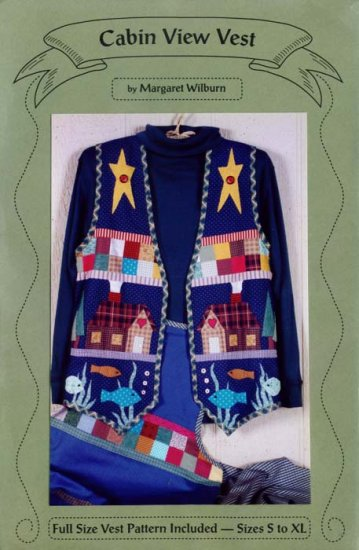 """Cabin View Vest """"Woodsy"""" look by Margaret Wilburn New Sm to Ex Lg"""
