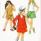 Vintage 1970 Simplicity #8718 Girl's Pantdress & Jacket Size 12 B30 UNCUT