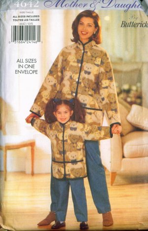 Butterick #4642 Mother 7 Daughter Jacket & Pants All sizes