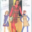 Vintage Simplicity 1972 Pattern #5154 Young Junior Teen/Misses BOHO MINI Jumper Dress 7/8 B28