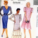 McCall's pattern #4141 Misses Dress w/ Cumberbund & Flower Size 20-22-24 UNCUT