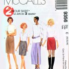 McCall's 9356 2 Hour Skirt 4 lengths UNCUT & Factory Folds