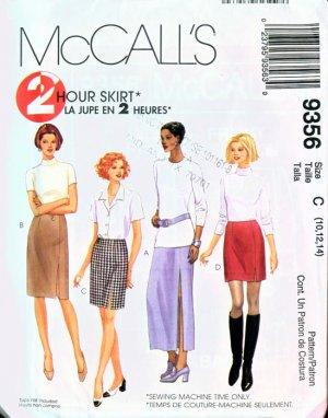 McCall's 9356 2 Hour Skirt 4 lengths UNCUT & Factory Folds