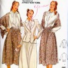 Designer Button Down Blouse Flared Skirt Blazer & Shawl Butterick 6041 Sewing Pattern S 12 B34 Uncut