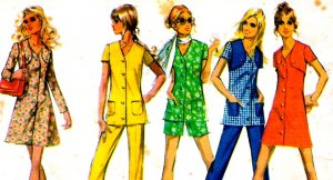 Vintage 70s McCalls 2415 Mini Bolero Dress or Tunic and pants Size 14 (36-27-38)