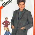 Vintage 80s Simplicity 5664 Misses Unlined Jackets UNCUT Size 14 (36-28-38)