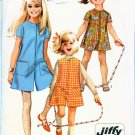 60s Simplicity 7406 Girls Jiffy Mod Pantdress or PantJumper Vintage Sewing Pattern Size 12