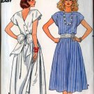 Vintage 80s Butterick 3223 Misses Back Wrap Dress Size 6-8