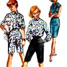 Vintage 50s McCalls 4421 Ivy League Shirt and Bermuda Shorts Sewing Pattern Size 12 B32