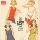 60s Butterick 5687 Misses Summer Blouse Vintage Sewing Pattern Size 14 B36 Uncut