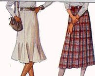Vintage 80s McCalls 9162 FLARED and fitted Six gore Skirt Sewig pattern Size 8 UNCUT