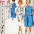 Vintage 60s Simplicity 5001 Misses Nightgown and Robe in Two lengths Size Ex. Large 40-42