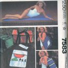 Vintage 80s mcCalls 7583 Picnic Package pattern Beach Mat, Exercise mat, Picnic Bags UNCUT