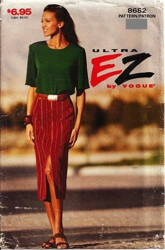 Ultra EZ by Vogue 8682 Pullover Top & Tapered Skirt Size 18