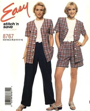 Stitch and Save 8767 Easy Top, Pants, Shorts Sewing Pattern UNCUT Size 8-14