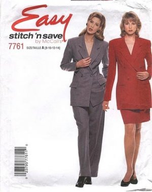 Stitch and Save 7761 EASY Jacket, Skirt, Pants Sewing Pattern Size 8-14 UNCUT
