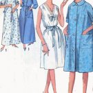 Vintage 60s Simplicity 5001 Misses Nightgown and Robe in Two lengths Size Large 38-40