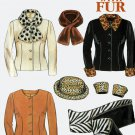 New Look 6684 Fun with Fur Jacket, Hat and Scarf Sewing Pattern  6-16 UNCUT