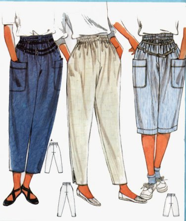 Burda Sewing Pattern 6632 Crop Pants Knickers or pants Size 8-16 UNCUT