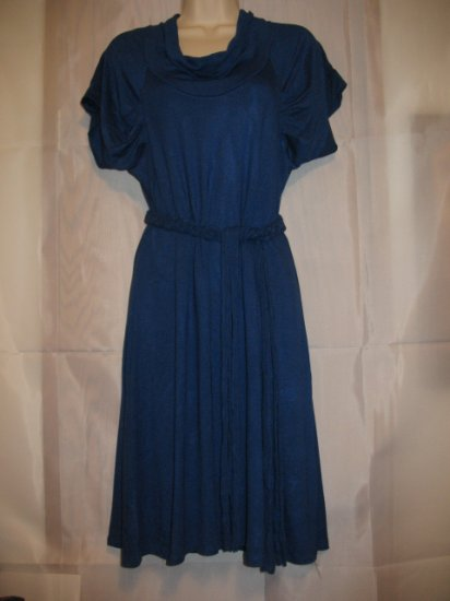 Blue Dress With Belt Fits to Sizes- S,M,L (6,7,8,9,10)
