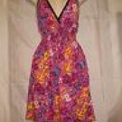 Halter Style Dress,Multi-colored, Elasticated Waist & Back fits Sizes-6,7,8 (S/M)