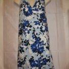 Floral Halter Style V Shape-Flexi Back Top Dress