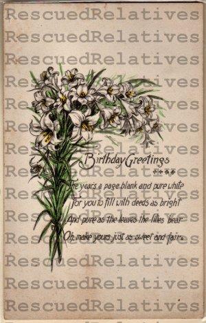 SMITH, SAMUEL D.E. &  ALICE D. BRIDGE, id'd postcard, 1911, NH.