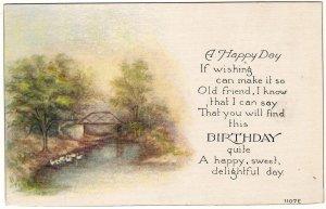 BURDICK, CLARA & HAZEL, Linklaen, Chenango, NY., 2 id'd Birthday postcards