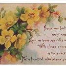 SWAN, MRS. NELLIE BLANCHARD, Shelburne Falls, Mass., id'd Birthday postcard, 1911