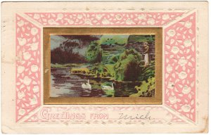 SOVINE, CAROLINE A., GILGEN, Wells Co., IN. & Hillsdale, MI., id'd postcard from sister Clara