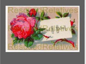 BALMER, EMANUEL H., id'd calling card, born 1861, Penn Twp., Pa.