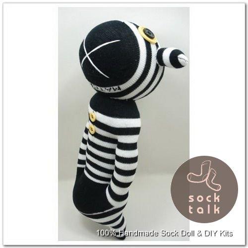 Handmade Sock Monkey Bear Stuffed Animals Doll