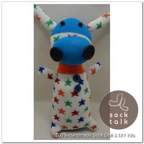 Handmade Sock Monkey Cow Cattle Stuffed Animals Doll