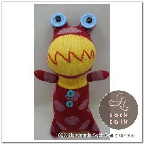 Handmade Sock Monkey Frog Stuffed Animals Doll