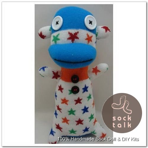 Handmade Sock Monkey Stuffed Animals Doll