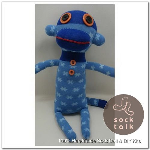 Handmade Sock Monkey Stuffed Animals Doll