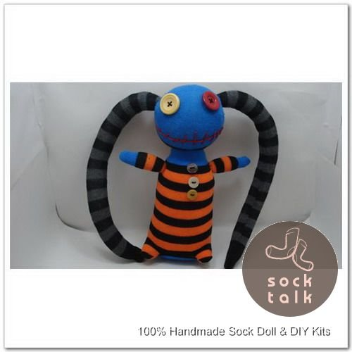 Handmade Sock Monkey Pirate Stuffed Animals Doll