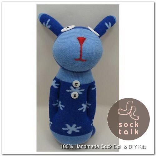 Handmade Sock Monkey Rabbit Bunny Stuffed Animals Doll