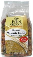 Spirals, Whole Grain Kamut Vegetable, organic 12 oz