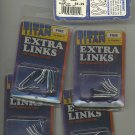 Fine Titan prong dog training collar extra links - lot of 5