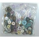 1 oz mostly green vintage buttons for crafts and sewing
