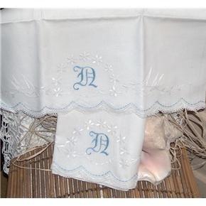 Hand Embroidered pillowcases Birds, Daisies, monogram...