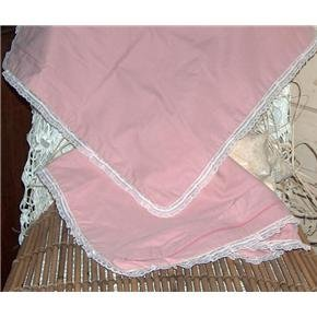 Pretty Pink Pillowcases for throw pillows - vintage handmade