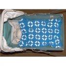 vintage doll or preemie baby blanket handmade -crochet 20x20
